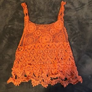 Woven lacey tank top